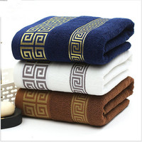100% Cotton Embroidered Towel Sets blue White Beach Bath Towels for Adults Luxury Brand High Quality Soft Face Towels 3 PCS