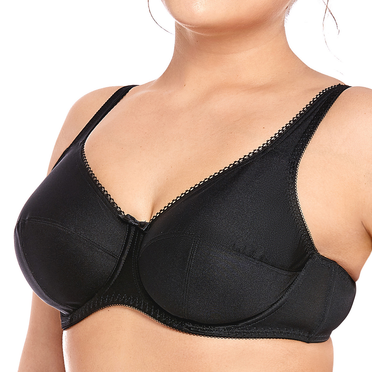 DELIMIRA Women's Plus Size Full Coverage  Non Padded Firm Support Control Underwired Bra