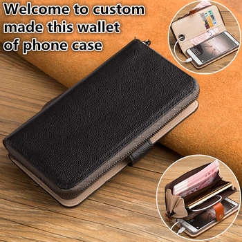 QX12 Cowhide leather wallet phone bag with kickstaand for Sony Xperia XA1(5.0') flip cover with card holders free shipping