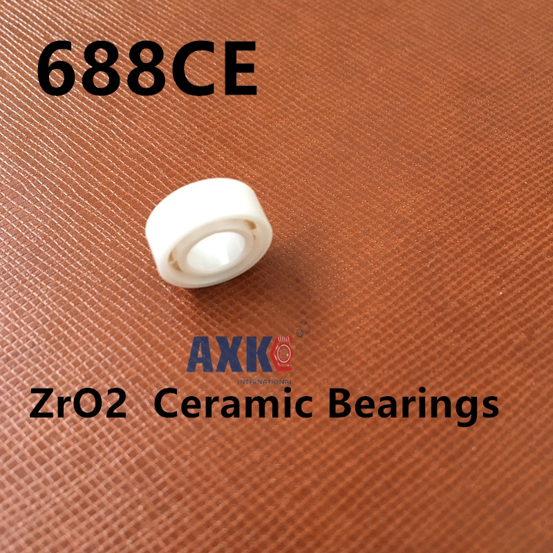 Free Shipping Full zro2  688 Ceramic bearings 8*16*4MM zirconia bearing / ZrO2 /  high temperature insulation corrosion free shipping 50pcs lot miniature bearing 688 688 2rs 688 rs l1680 8x16x5 mm high precise bearing usded for toy machine