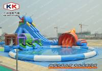 Hot Sell Adult And Kid Hotel With Inflatable Water Park Games With Slides