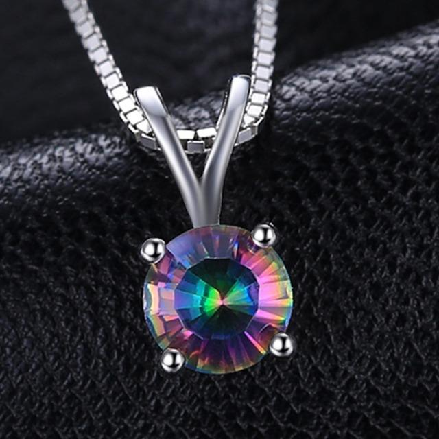 Natural Rainbow Topaz Jewelry Set