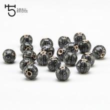 12mm Flower Glazed Ceramic Beads Watermelon For Women Diy Bracelet Necklace Material Charm Pumpkin Porcelain WholesaleU601