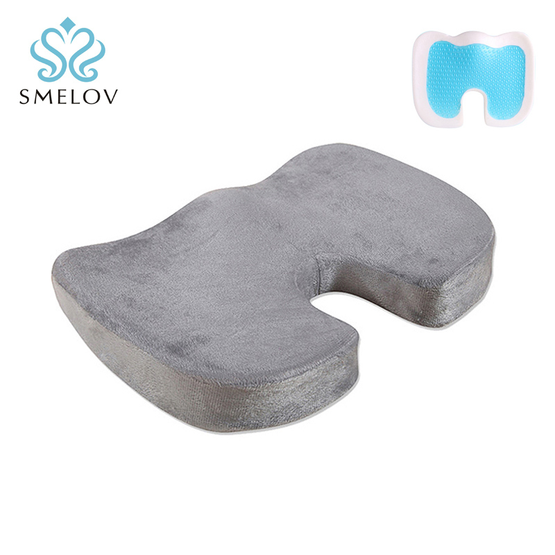 Gel comfort Office Chair Car Seat Cushion Memory Foam Orthopedic Coccyx Tailbone Back Pain Sciatica Relief seatcover Cushion pad in Travel Pillows from Home Garden