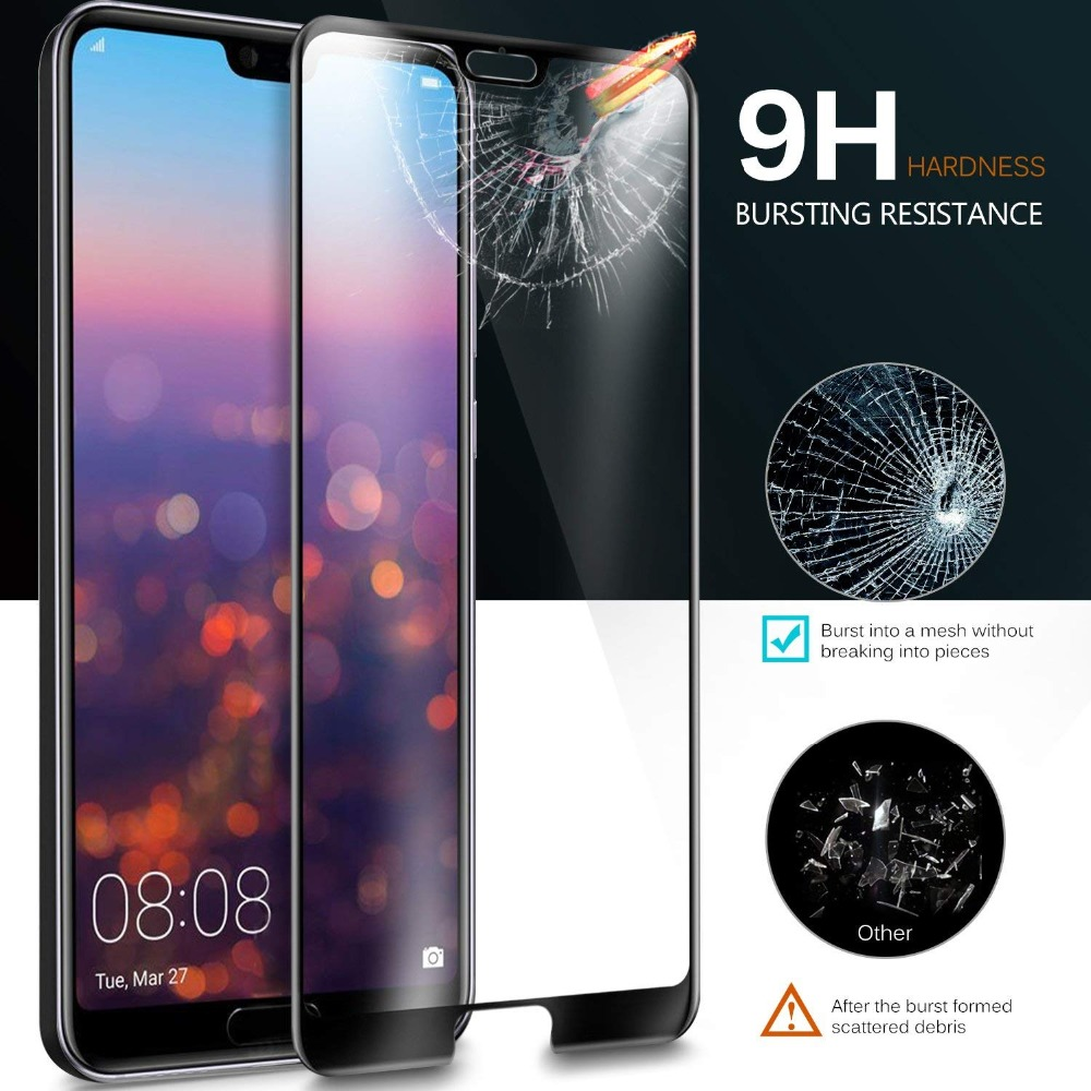 19D Curved Full Cover Tempered Glass For Huawei Nova 3 3i 3E 4 4E Screen Protector Y7 Y5 Y6 Prime Y9 2018 2019 Protective Film