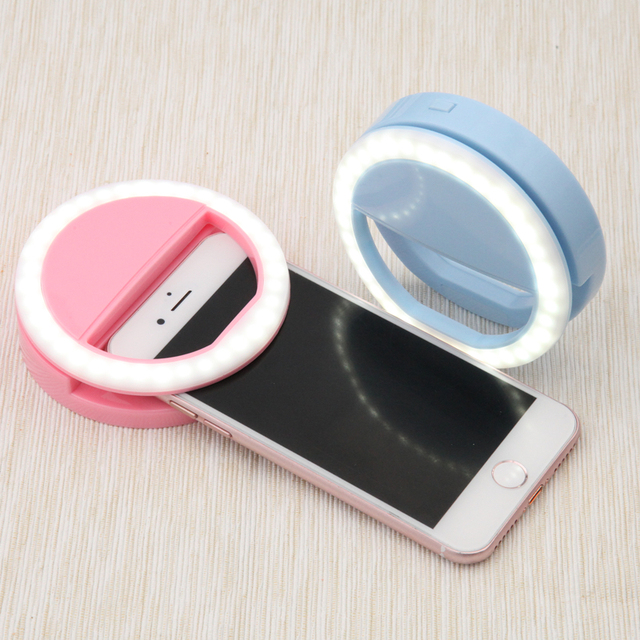 the best attitude f10e5 fb7e4 US $2.99 40% OFF|Portable Selfie Ring Flash Led Fill Light Lamp Camera  Photography Video Spotlight for iPhone X 8 7 6 Plus Samsung S6 S7 S8 Plus  -in ...