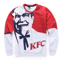 High Quality 2016 Fashion Autumn Men Sweatshirt 3d KFC Printed Graphic Crew Neck Sweatshirts Pullover Hoodies