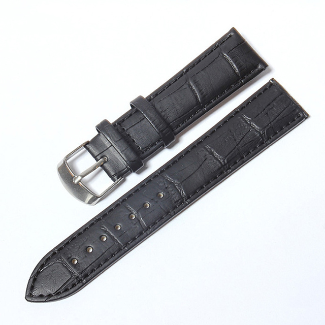 2 color Crocodile Pattern Leather Strap Watch Band Strap for Hours Watchband siz