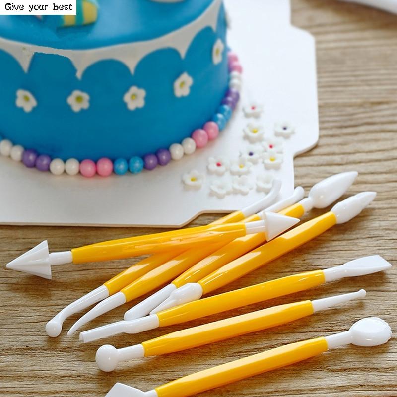 8 pièces Sugarcraft Fondant gâteau pâtisserie sculpture coupe - Cuisine, salle à manger et bar - Photo 3