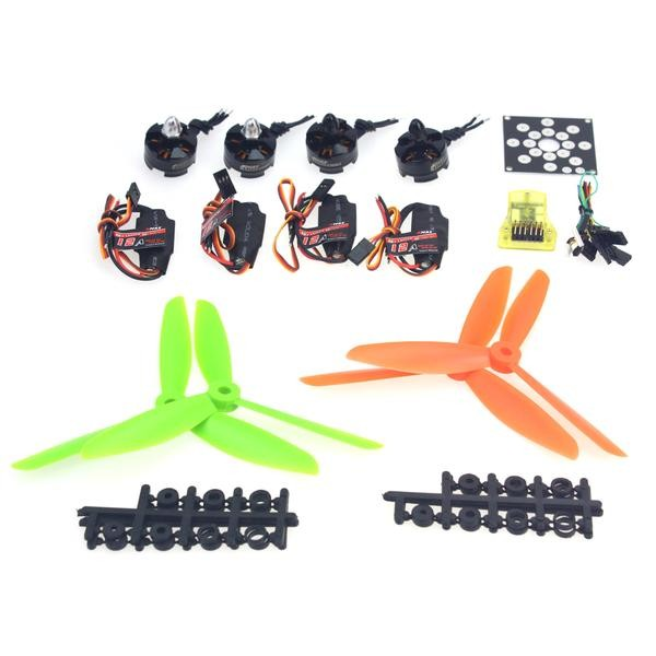 4-Axis Helicopter Kit KV2300 Brushless Motor+12A ESC+Straight Pin Flight Control+FC6x4.5 Propeller for 250 Helicopter F12065-M electronic components set kv2300 brushless motor 12a esc straight pin flight control open source for 250 helicopter f12065 b