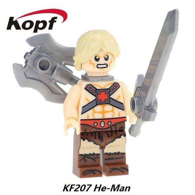 Rare Motu Masters del Universo Vendimia Heman Farsante Que hombre He-Man Building Blocks Super Heroes Ladrillos Juguetes Para Niños de Regalo KF207