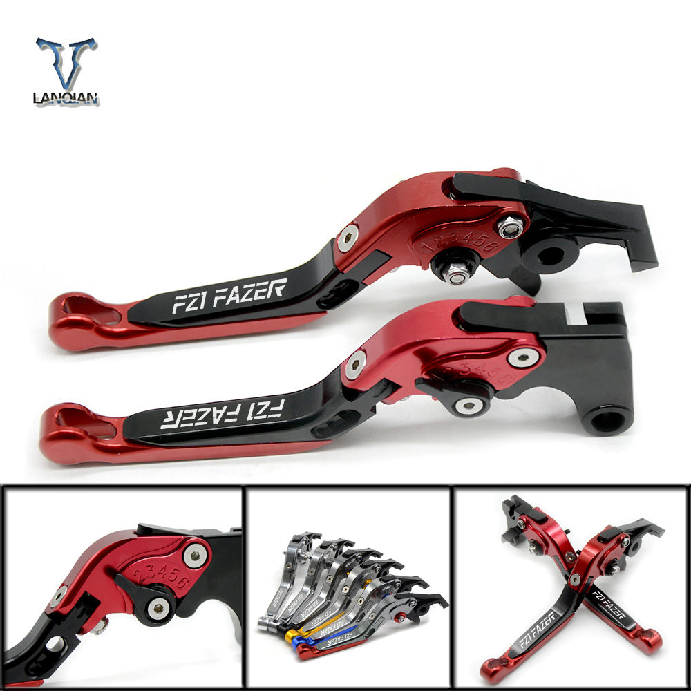 CNC Motorcycle Accessories Adjustable Foldable Extendable Brake Cutch Levers For Yamaha fz1 fazer 2001 2002 2003 2004 2005