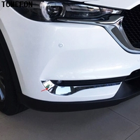 TOMEFON ABS Chrome For Mazda CX-5 CX5 2017 2018 Front Fog Light Lamp Eyelind Cover Frame Trim Auto Exterior Accessories 2pcs
