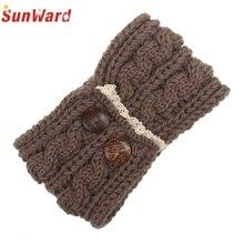 SunWard Good Deal  2017 New fashion Women Bohemia Double Button Knitting Headband Handmade Keep Warm Hairband  1pc