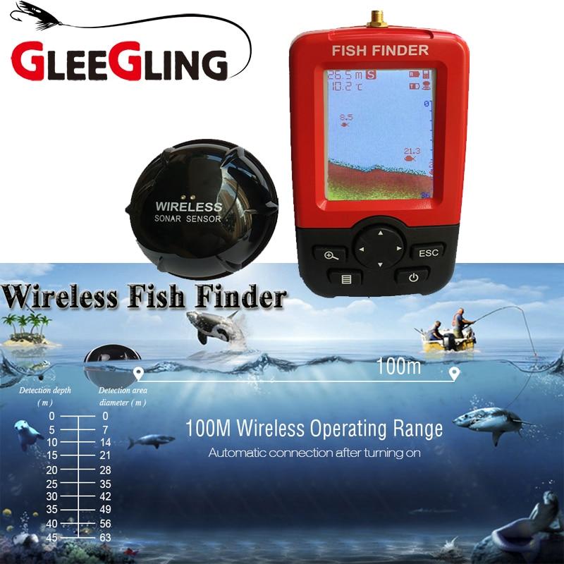 GLEEGLING Smart Portable Fish Finder Depth 100 M Wireless Sonar Sensor Echo Sounder Fishfinder for Underwater Sea Fishing CameraGLEEGLING Smart Portable Fish Finder Depth 100 M Wireless Sonar Sensor Echo Sounder Fishfinder for Underwater Sea Fishing Camera