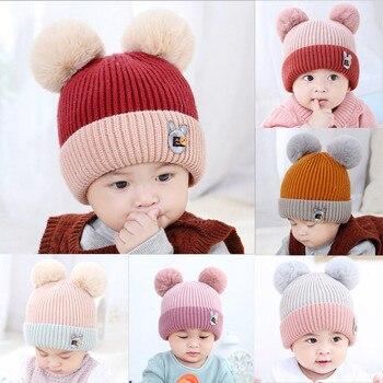 1PC Children Cute Toddler Kids Girl Boy Cap baby hat Infant Winter Warm Crochet Knit Cute Baby Beanie Cap Drop Shipping from US stuffed toy
