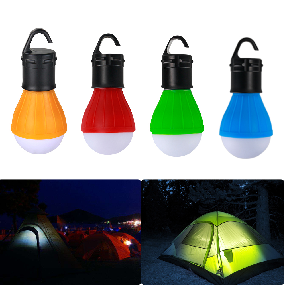 Outdoor Hanging Lanterns Bulb Fishing Portable Emergency Camping Tent Soft Light White Color Lantern Hiking Energy Saving Lamp