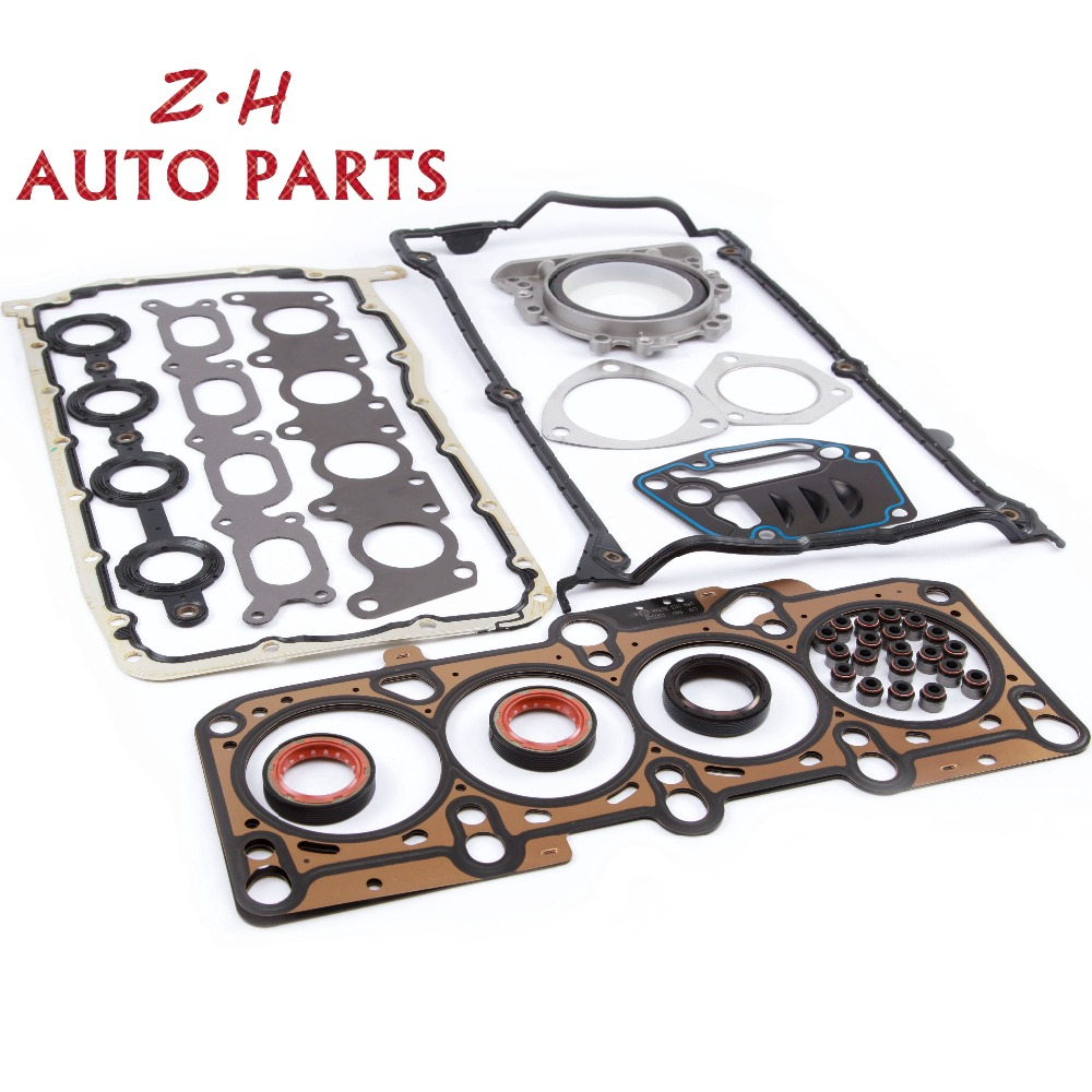 New 058 103 383 K Engine Cylinder Head Gasket Valve Seal Repair Kit For VW Jetta Golf MK4 Passat B5 Audi A4 TT 1.8T 036 109 675A цена