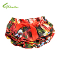 Baby Ruffle Bloomers Layers With HeadBand Baby Diaper Cover Newborn Flowes Shorts with Skirts Toddler Cute Summer Cotton Pants