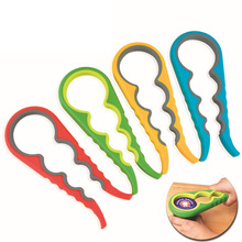 Gourd-shaped Can Opener Plastic Screw Cap Jar Bottle Wrench 4 in 1 Creative Multifunction Kitchen Tool for Glass Jar Lid