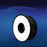 Hot shoe flash general purpose collapsible ring light box, eye light ring flashing light box CD50