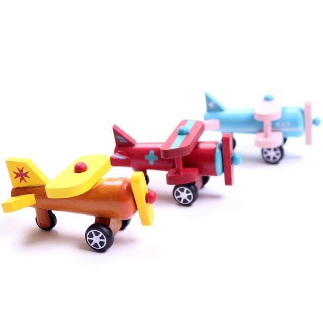 12 model model punuar me dorë prej druri Plane Druri lodra të vogla - Makina lodër për fëmije - Foto 2