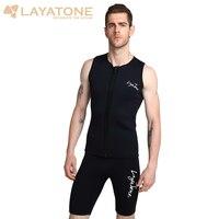 Layatone Wetsuit Vest Men 3mm Neoprene Diving Suit Top Vest Surfing Snorkeling Fishing Suit Sleeveless Scuba Diving Vest