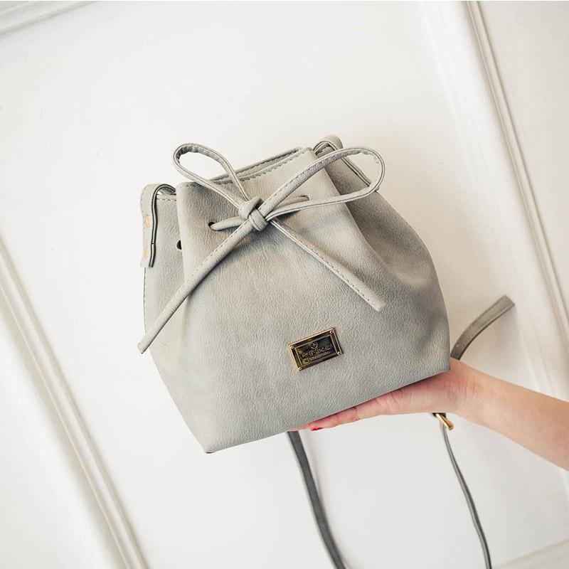 primavera verão arco balde cordão Item Shape : Bucket Bag