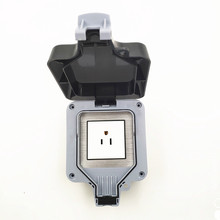 USA family waterproof wall power outlet grade IP66 socket