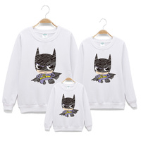 Bat print cotton Hoodies Family matching outfits Father son Sweatshirt mother daughter dresses korean clothes shop Autumn S 3XL