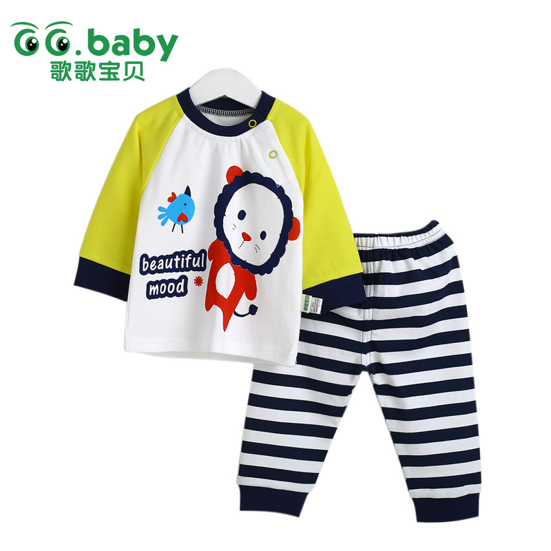 0-3 months Cheap Newborn Outfit Baby Pajamas Set For Newborns Striped Infant Sleepwear Suits Animal Sets For Baby Clothing Suit baby boys newborn pajamas outfit animal elephant long sleeve baby clothes boy suit baby sleepwear girl infant kids clothing sets