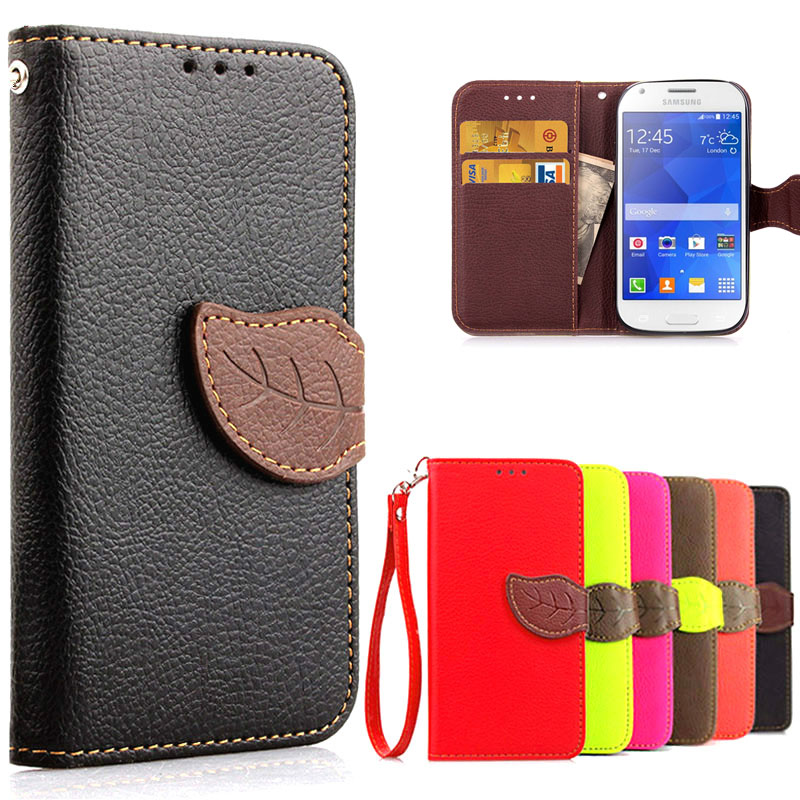 1ae9b22c06c G357FZ Flip Wallet Leather Case For Cover Samsung Galaxy Ace 4 SM-G357FZ Ace4  SM G357FZ G357 Mobile Phone Case With Card Slots