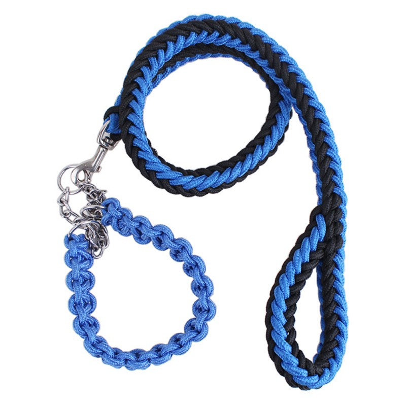 Pet Dog Leash Collars Harnesses Color Eight-strand Leads Rope Nylon Braided Leash For Medium Large Dogs Retractor Supplies