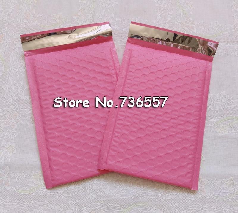 5,2*7 Zoll 13,2x17,8 Cm 20 Teile/los Nutzfläche Rosa Poly Blase Mailer Umschläge Padded Mailing Bag Selbst Dicht GläNzende OberfläChe