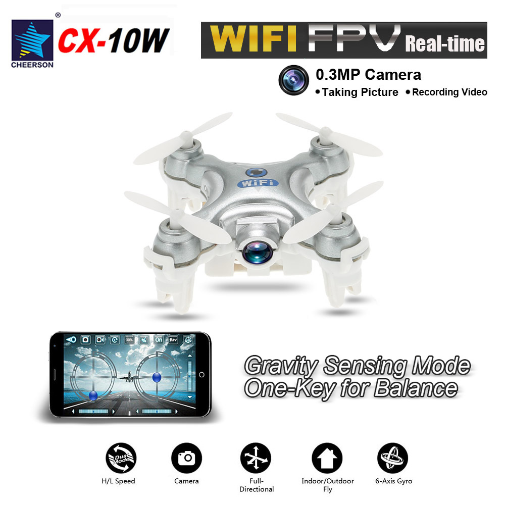 Cheerson CX-10WD Quadcopters Rc Drone FPV Flying Camera Helicopter Remote Control Hexacopter Toys WiFi Drones With Camera