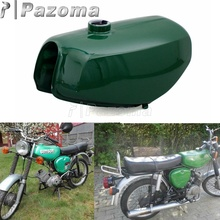 Pazoma Motorbike Steel Green Orange Gas Tank Motorcycle Fuel for Simson S50 S51 S70