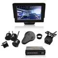Car Reverse Backup Radar 4 Sensors 22mm Buzzer LCD display 4.3 inch visible Parking Sensor Kit Monitor System