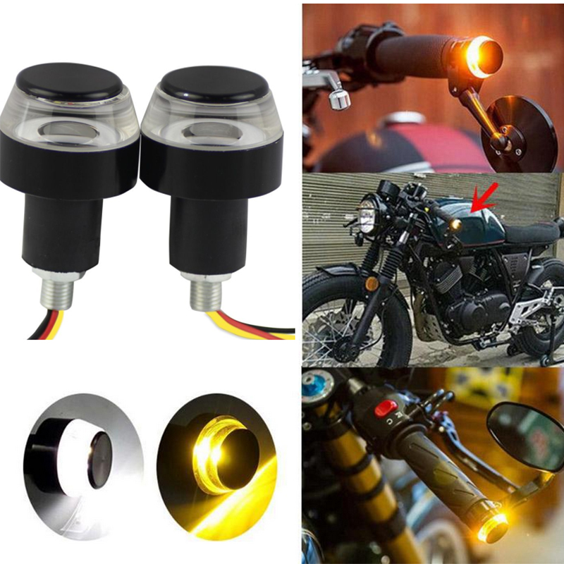 100PCS <font><b>2835</b></font> <font><b>12</b></font> <font><b>SMD</b></font> 12V DC Motorcycle LED Turn Signal Lights Hand Lamp White + Yellow Signal Lamps Mountain Bike Handlebar Light image