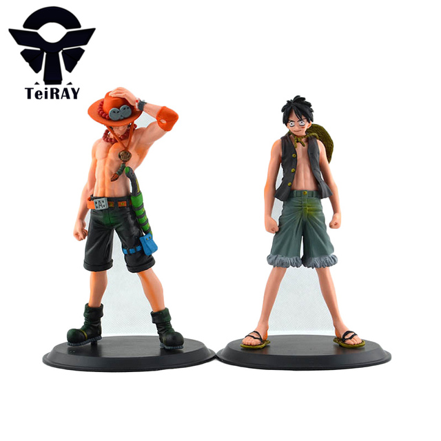 2pcs Lot New Japan Anime One Piece Monkey D Luffy Portagas D Ace Pvc