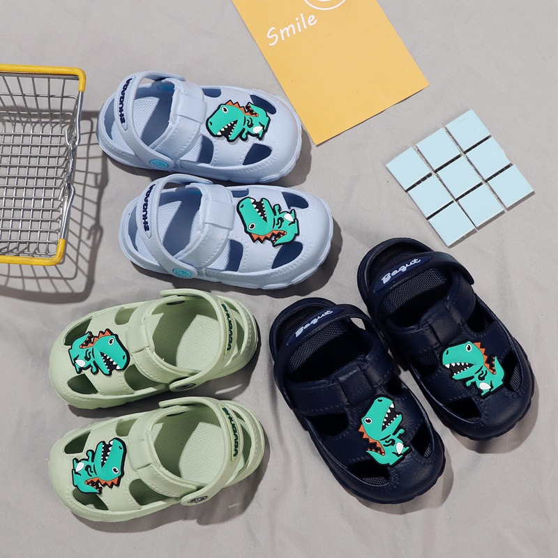 Toddler Baby Boys Girls Slippers Kids Cute Cartoon Dinosaur Beach Sandals Flip Flops Shoes