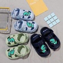 Toddler Baby Boys Girls Slippers Kids Cute Cartoon Dinosaur Beach Sandals Flip Flops Shoes