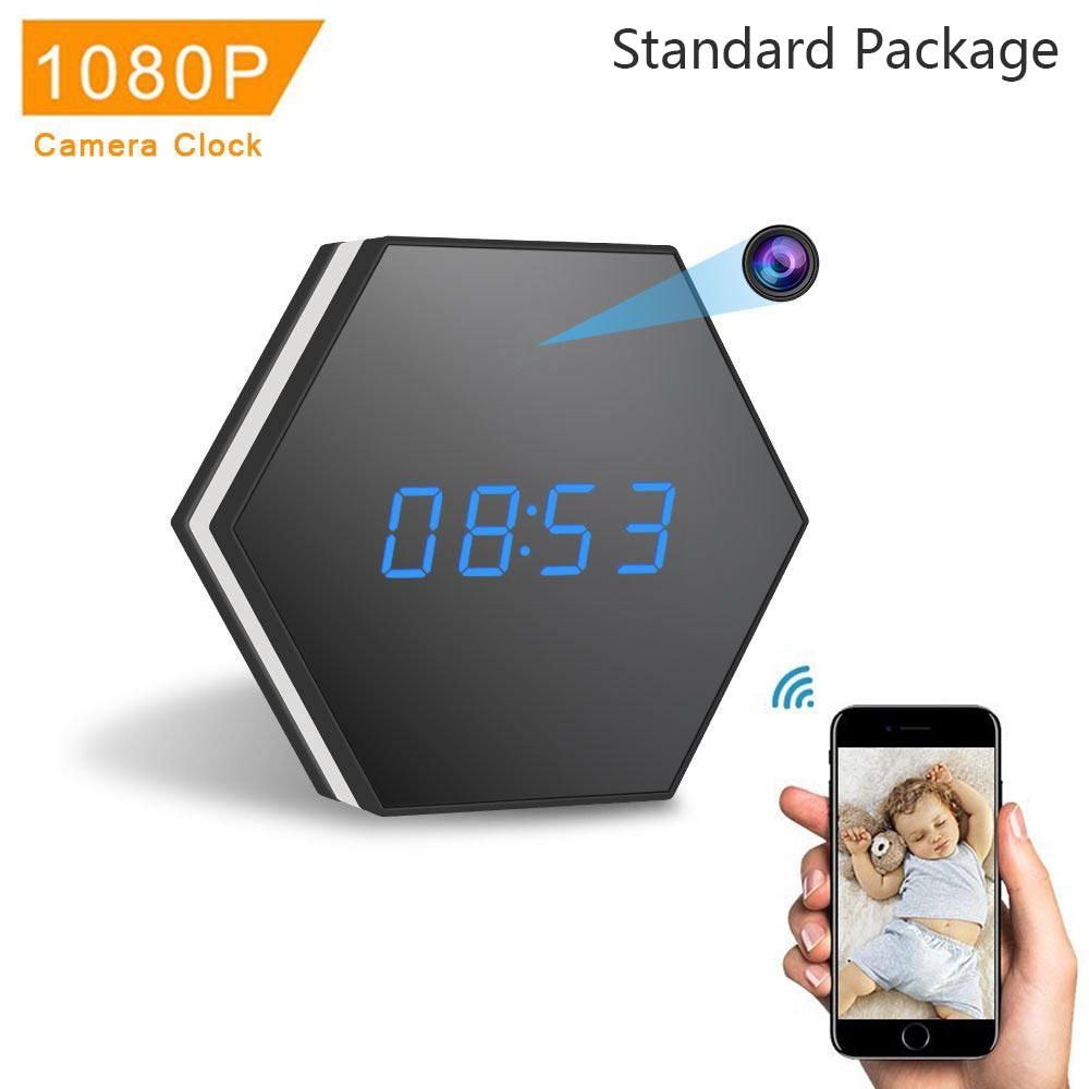 IP Mini Clock Camera HD1080P WiFi Smart Mirror wireless mote with Night Vision Two-Way Audio Motion Detection Colorful LED lightIP Mini Clock Camera HD1080P WiFi Smart Mirror wireless mote with Night Vision Two-Way Audio Motion Detection Colorful LED light