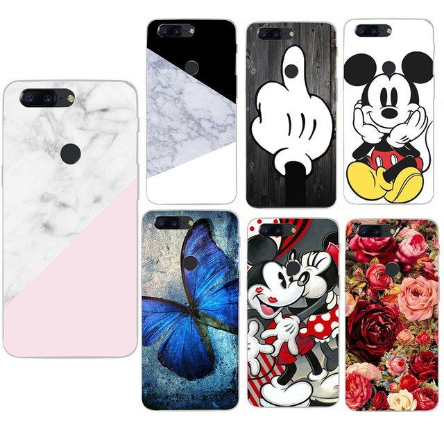 new concept c6dfc 6e85c US $0.82 19% OFF Marble Cover For OnePlus 6 Case Soft Silicone Phone Case  For One Plus 5 5T OnePlus 5T 6 Cartoon Minnie TPU Cases-in Fitted Cases  from ...