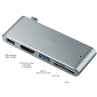 BASIX Multi Usb Type C 3 0 Hub Port HDMI 4K Adapter Splitter With SD TF