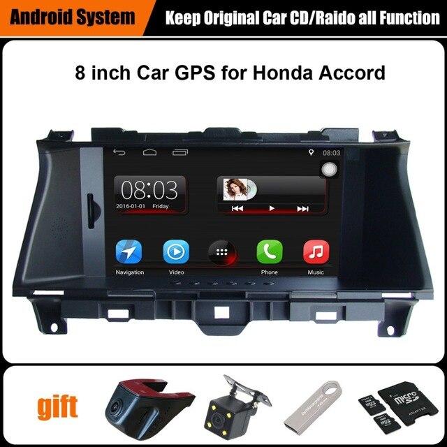 Обновлен Оригинальный Автомобиль мультимедийный Плеер Автомобиля Gps-навигация Костюм для Honda Accord (2008-2012) Поддержка Wi-Fi Bluetooth
