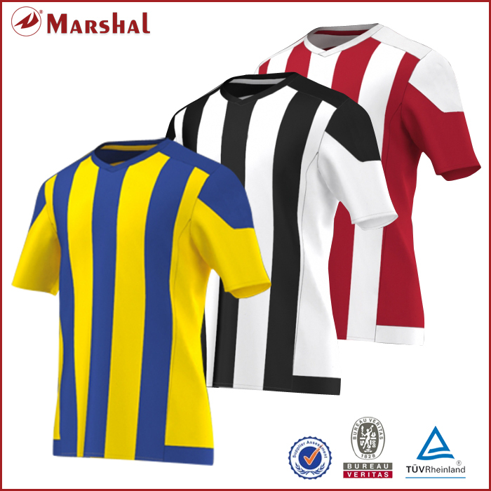 333881fca ... soccer uniforms customize any. US  14.60. Full Sublimation Printing  Custom maillots de football Jersey DIY Vertical Stripe thailand football  shirts ...