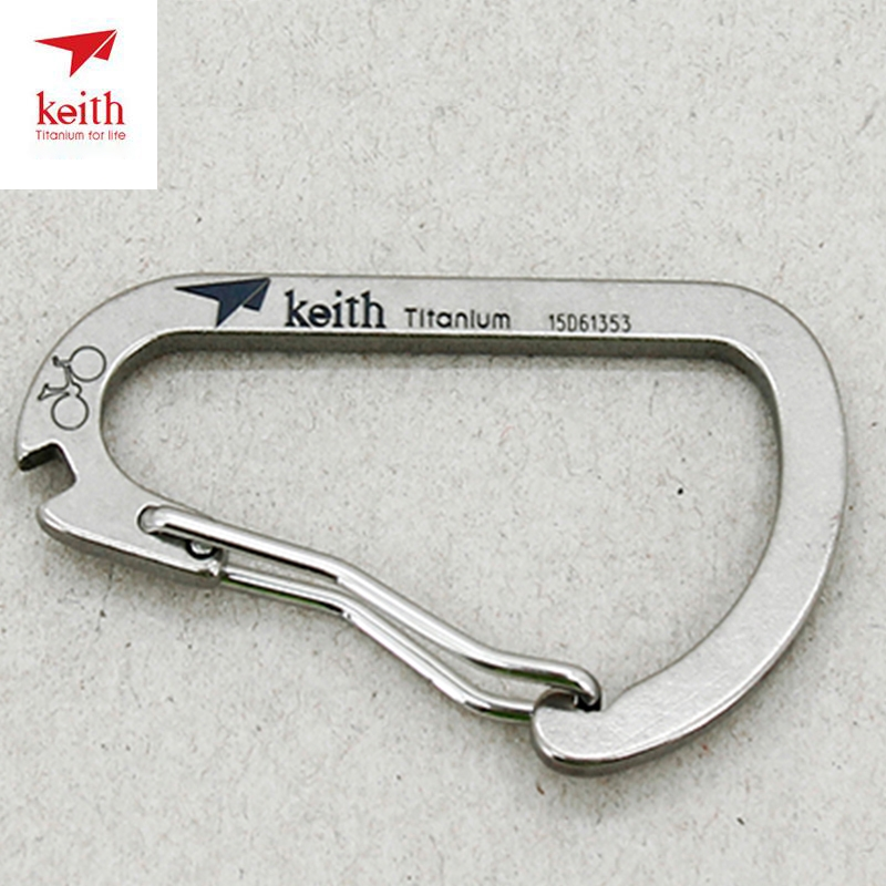 Doppelseitiger Schlüsselanhänger Karabinerhaken D-Ring Haken