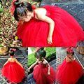 Girls Princess Tulle Dress Kids Party Pageant Wedding Bridesmaid Tutu Dress 2-7T
