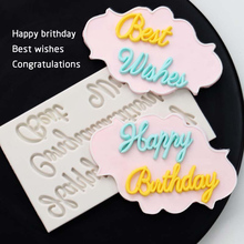 3D Silicone Happy Birthday Fondant Cake Mold For Baking Decorating Tools Tool Pastry Sugar Craft