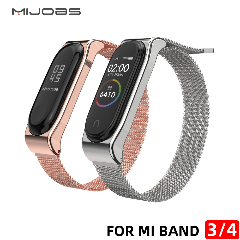 Mi Band 3 Strap For Xiaomi Mi Band 4 Bracelet Milanese Wristband Magnet Stainless Steel Miband  Replacement Wrist Compatible